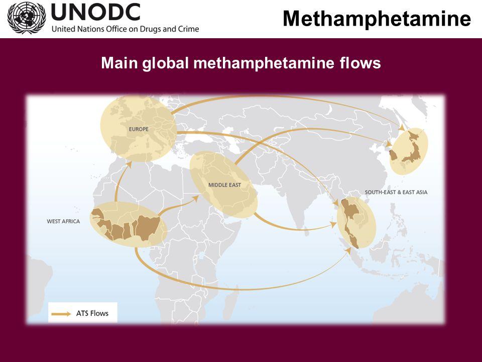 Main global methamphetamine flows