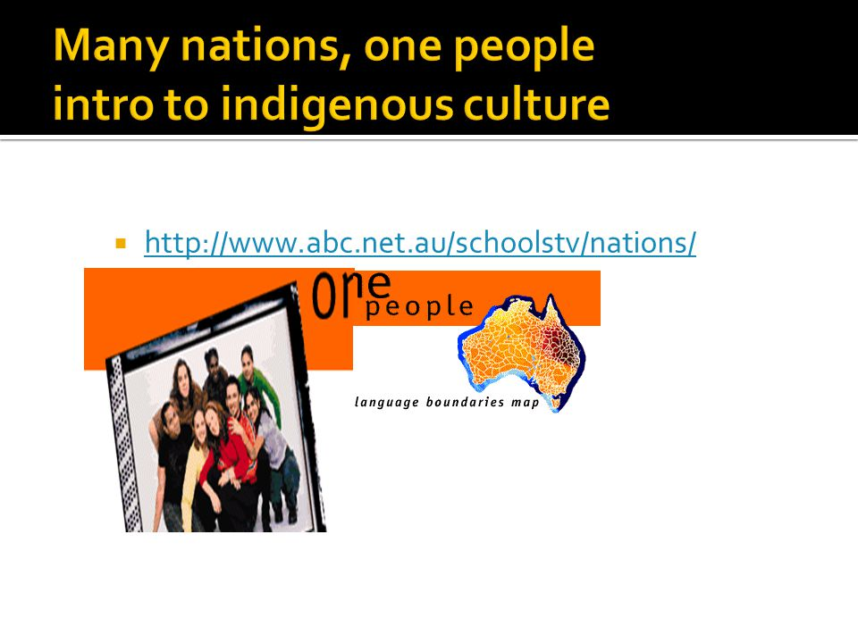 Many nations, one people intro to indigenous culture