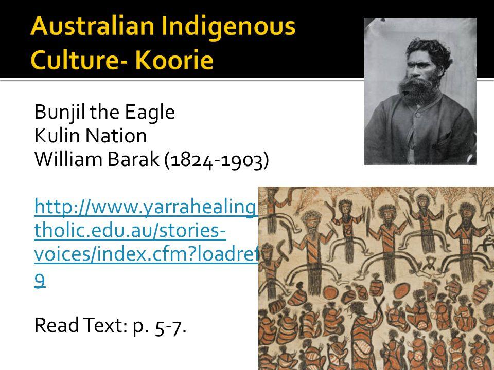 Australian Indigenous Culture- Koorie