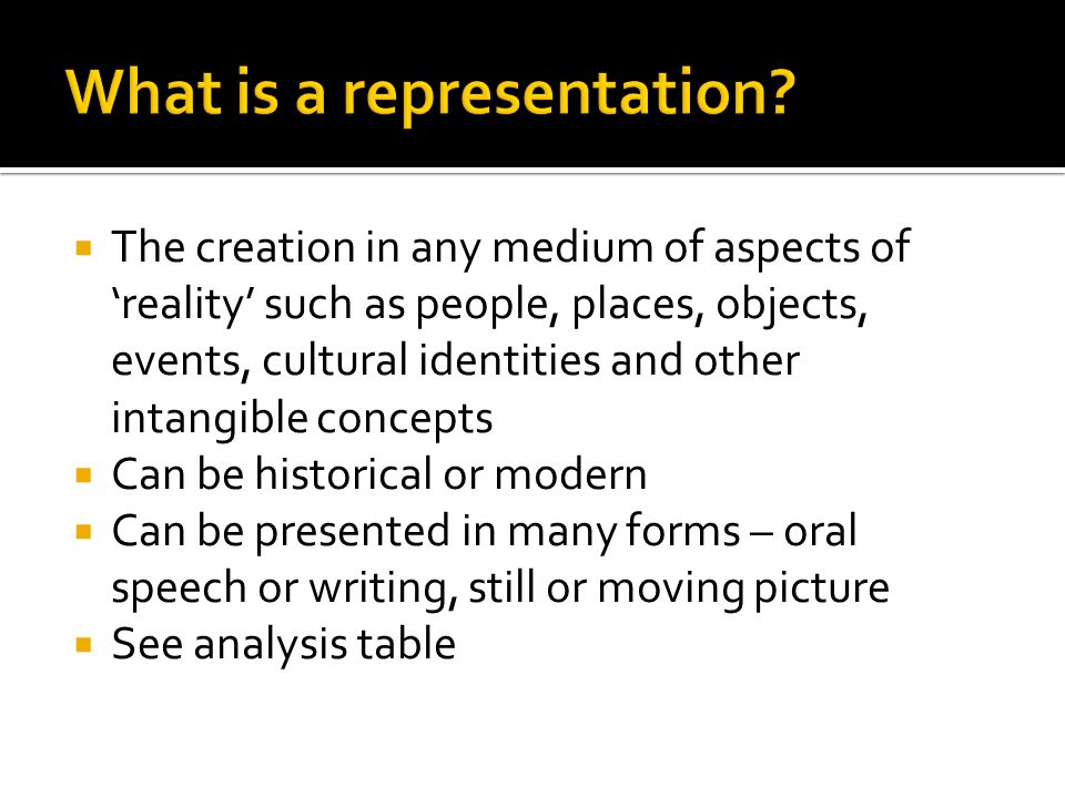 What is a representation