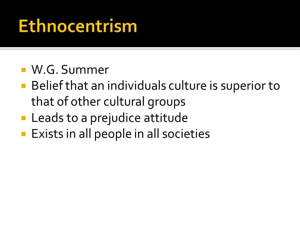 Ethnocentrism W.G. Summer