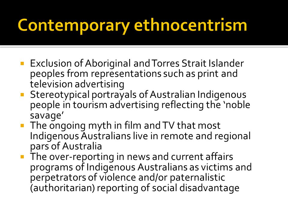 Contemporary ethnocentrism
