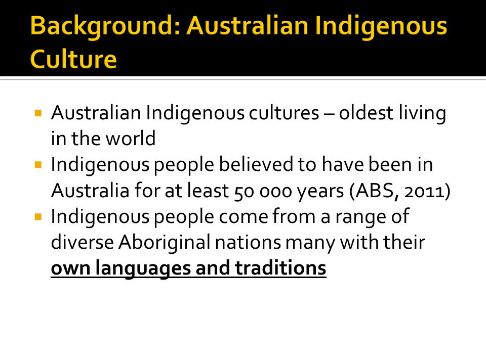 Background: Australian Indigenous Culture