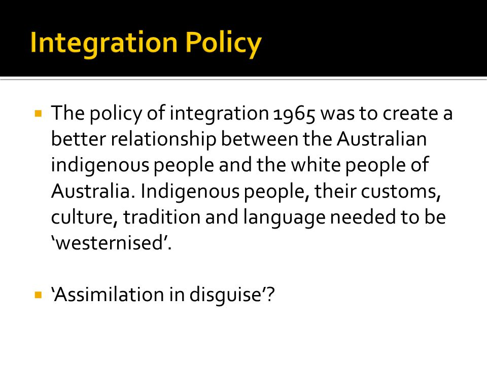 Integration Policy