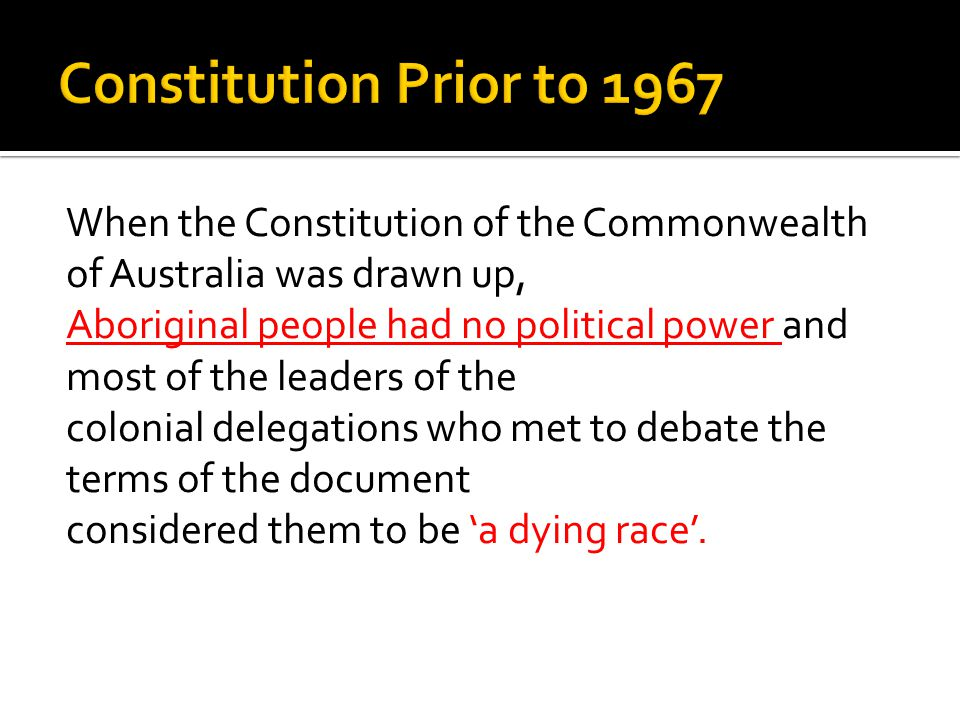 Constitution Prior to 1967