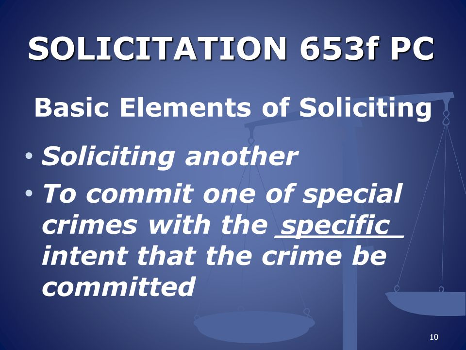 Basic Elements of Soliciting