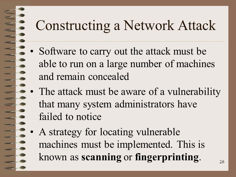 Constructing a Network Attack