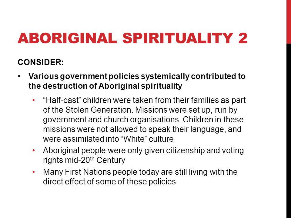 Aboriginal spirituality 2
