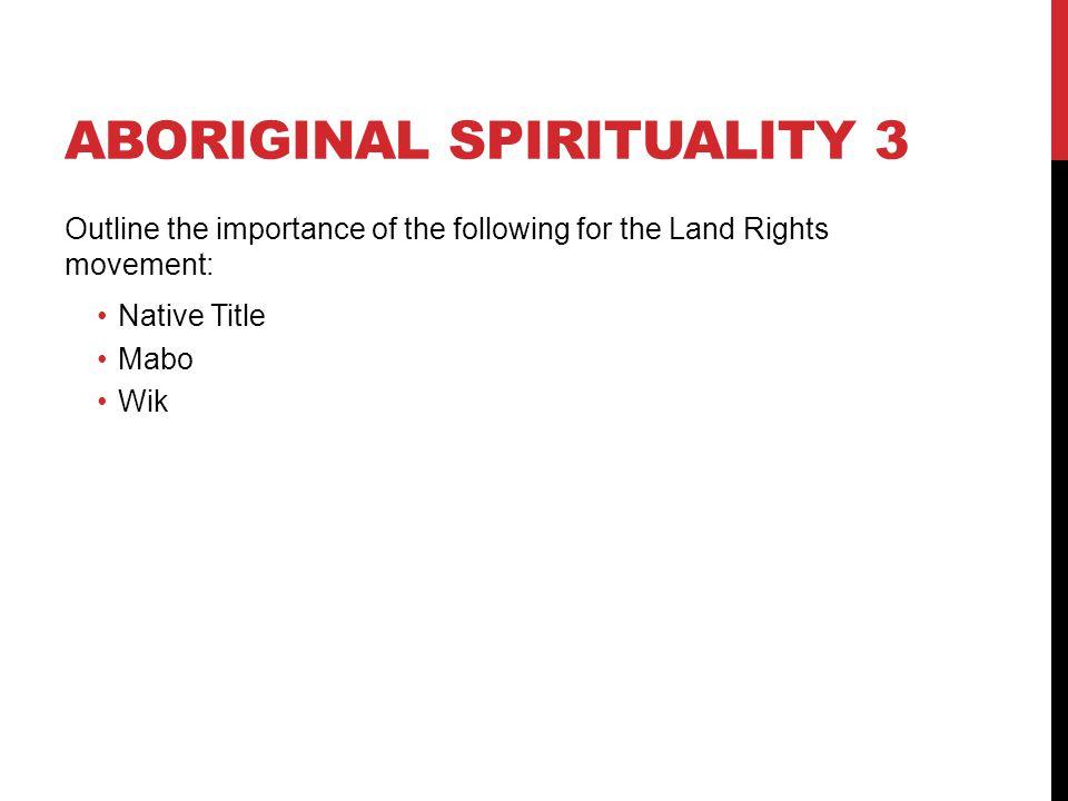 Aboriginal spirituality 3