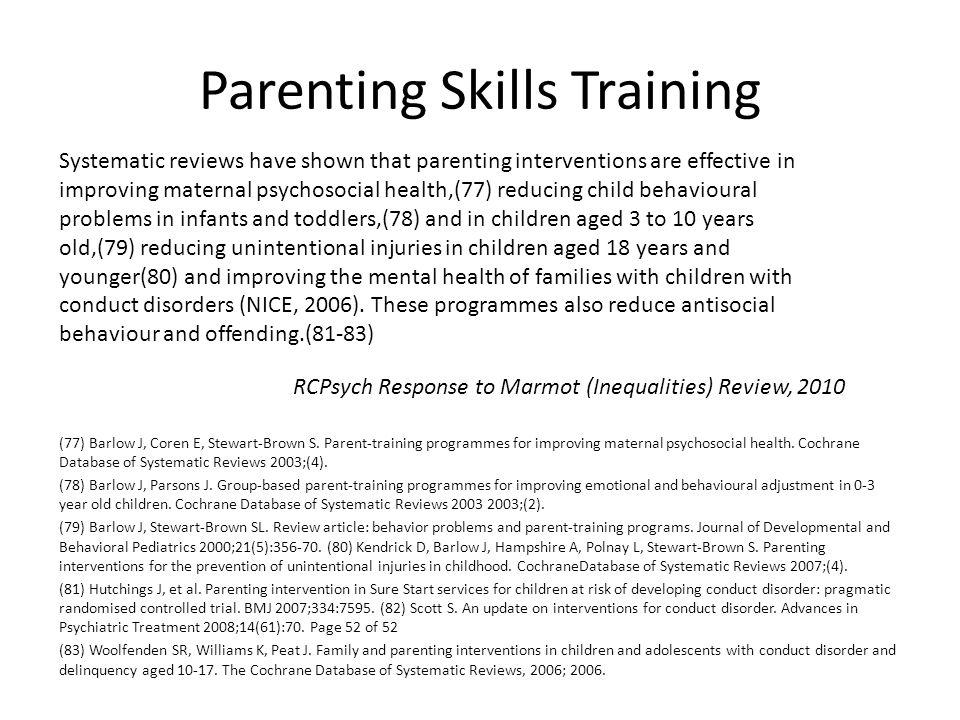 Parenting Skills Training
