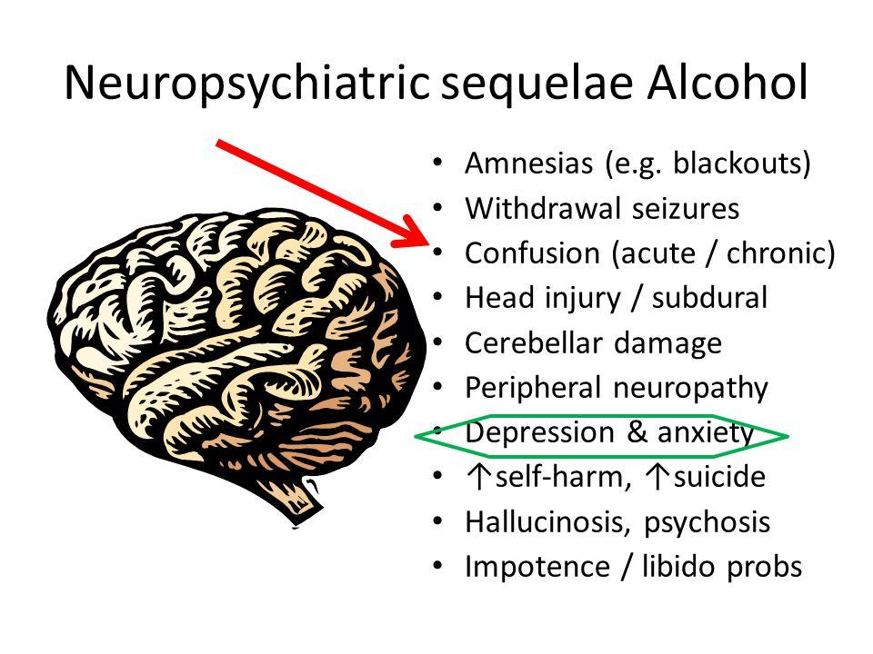 Neuropsychiatric sequelae Alcohol