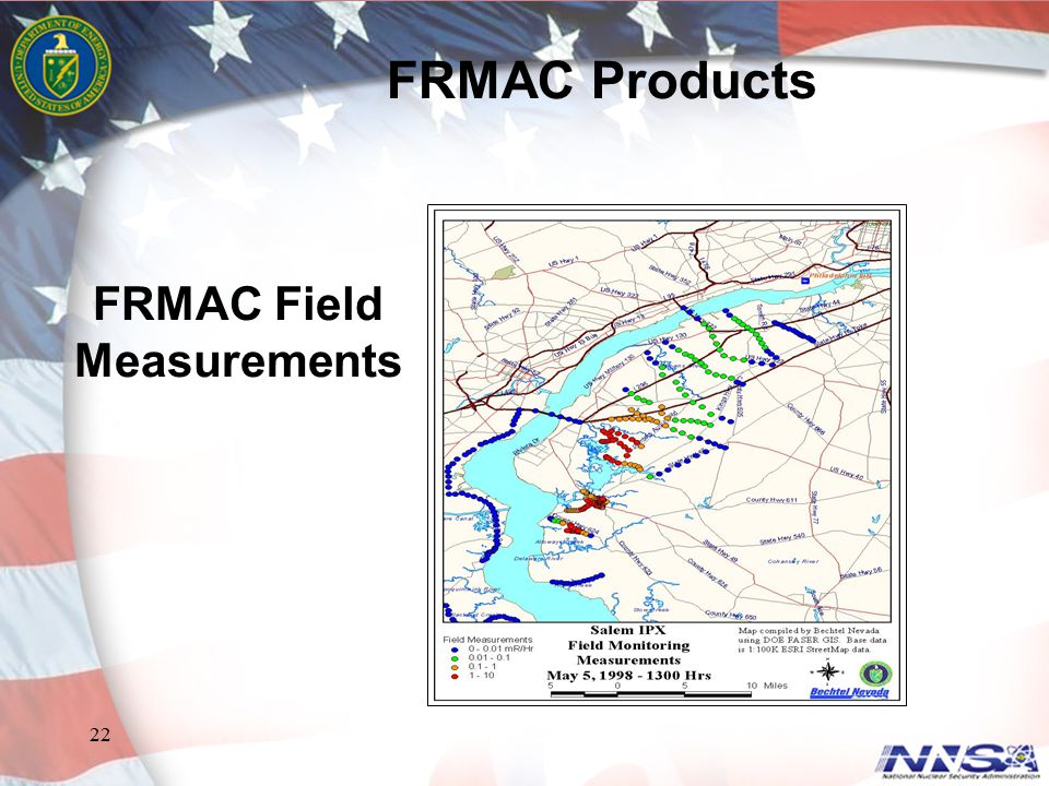 FRMAC Products FRMAC Field Measurements FRMAC Products