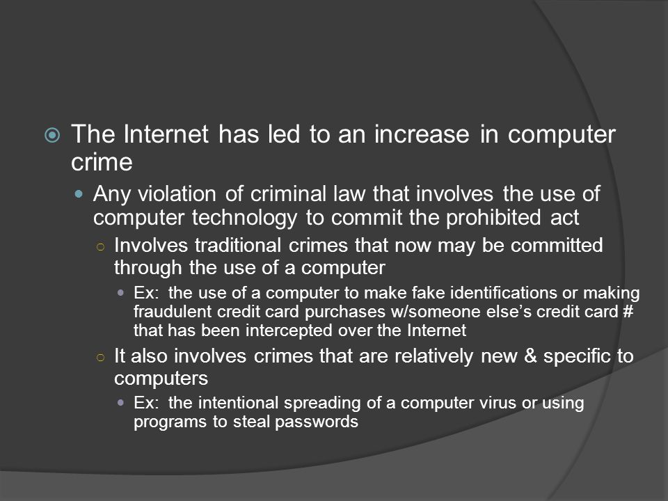 cyber crime committed on the internet essay The term 'cyber crime' has non been defined in any statute or act the oxford  reference online defines 'cyber crime' as offense committed over the internet [ 3 ] .