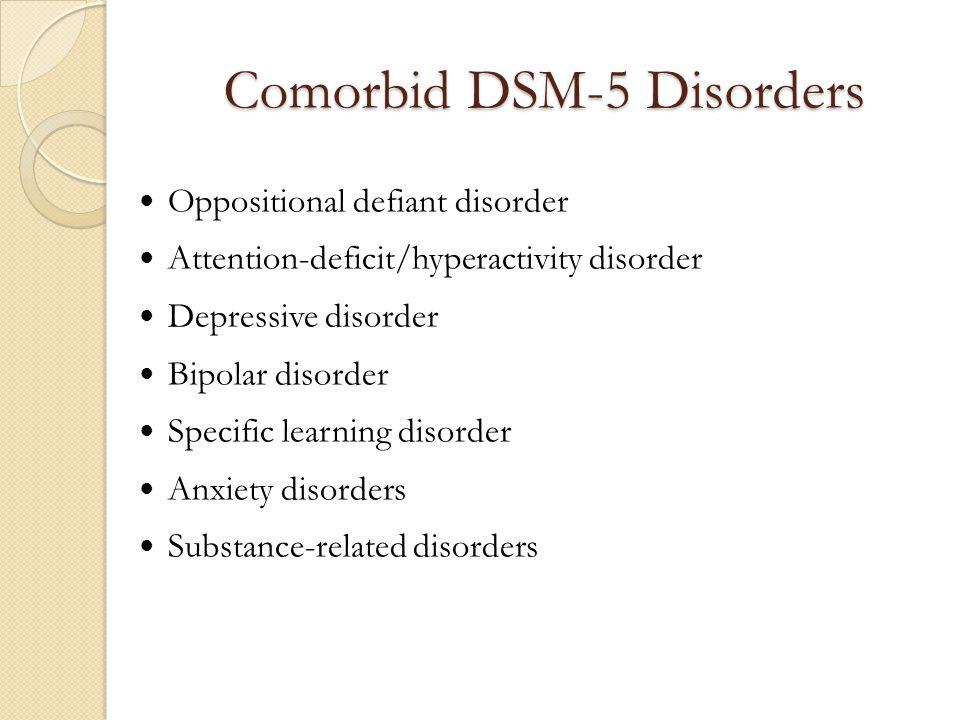 Comorbid DSM-5 Disorders