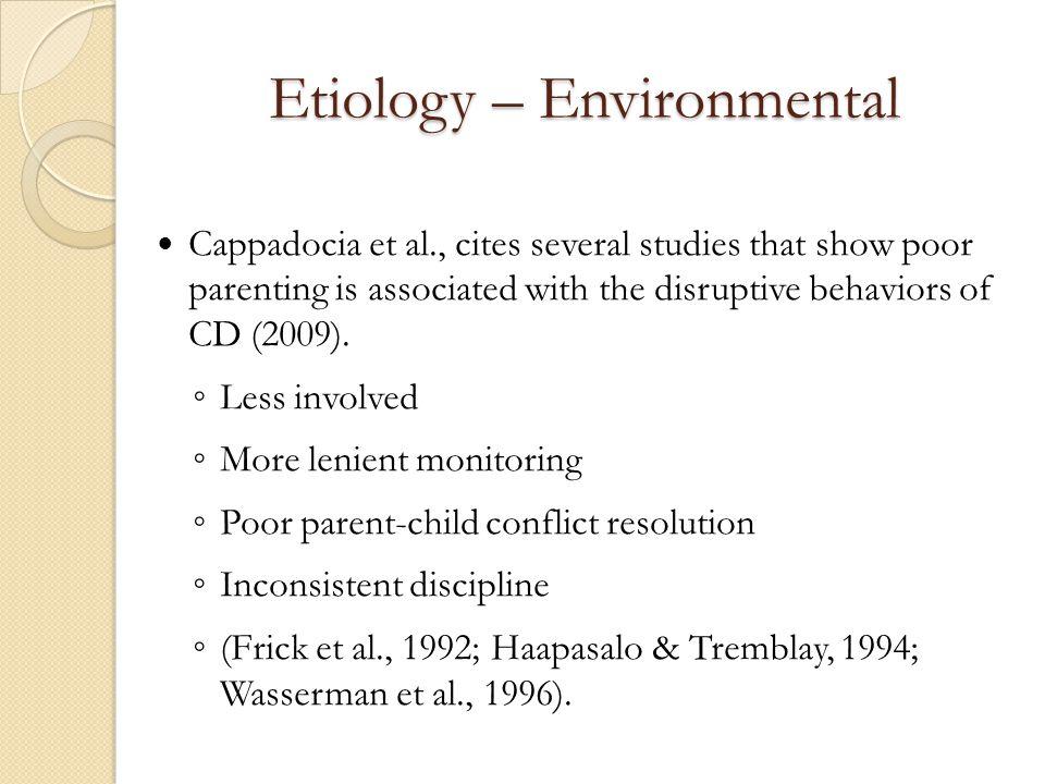 Etiology – Environmental