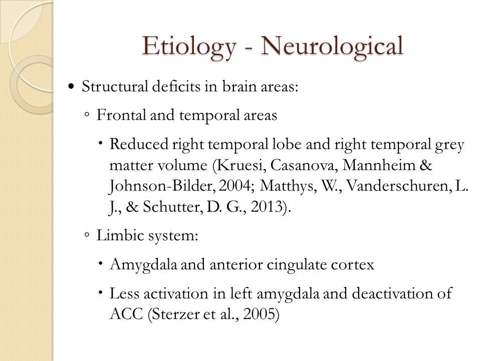 Etiology - Neurological