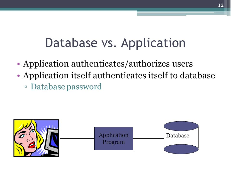 Database vs. Application
