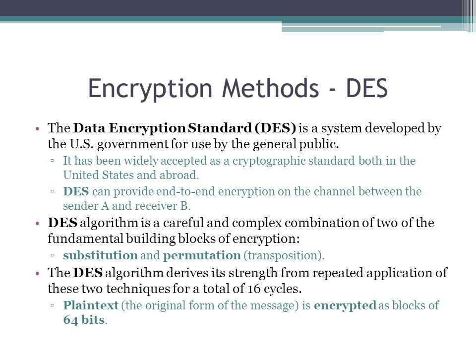 Encryption Methods - DES