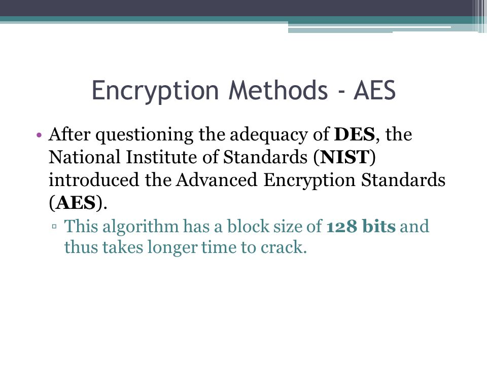 Encryption Methods - AES