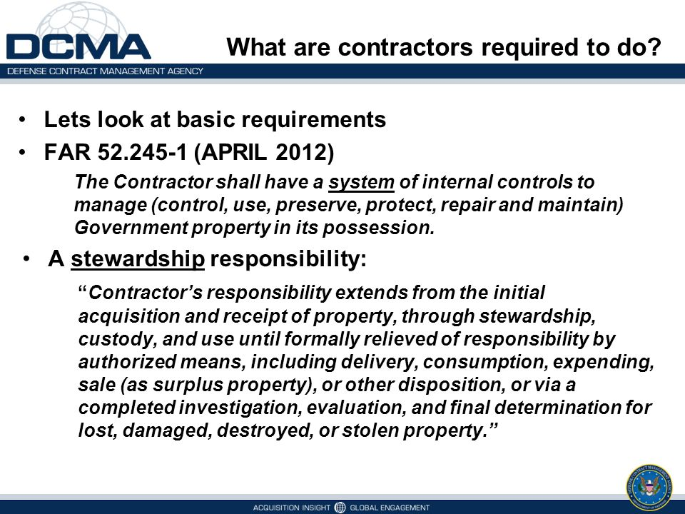 What are contractors required to do