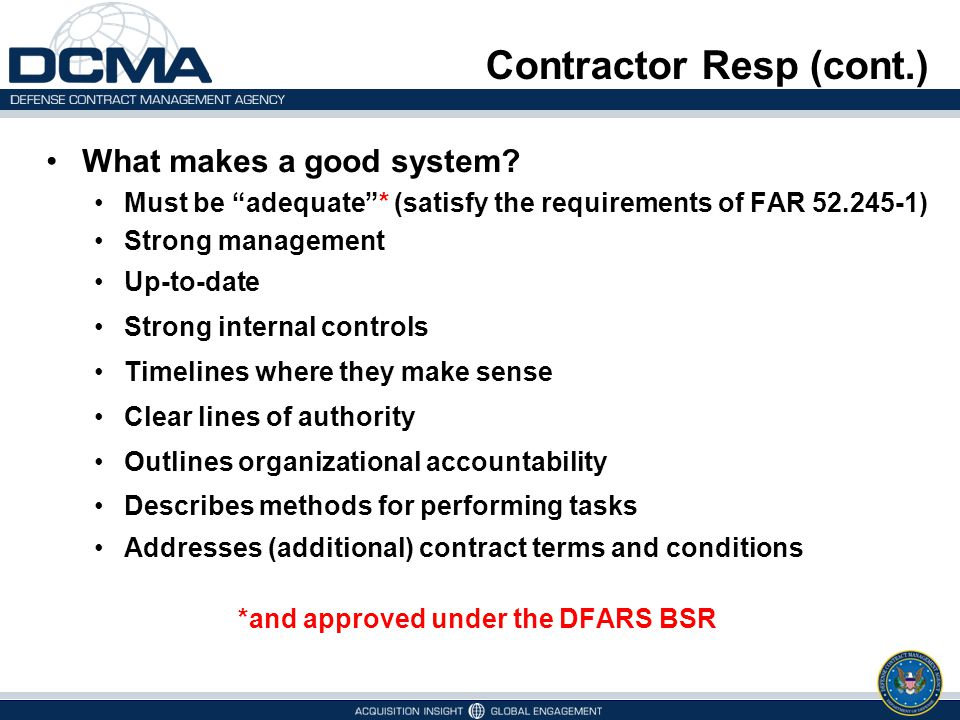 Contractor Resp (cont.)