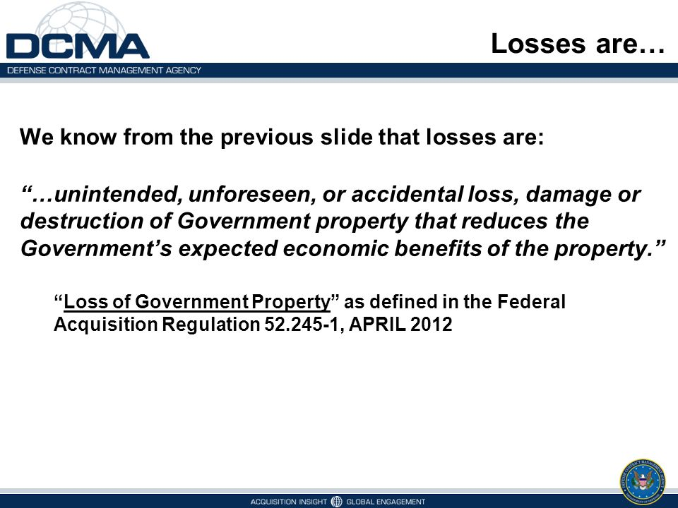 Losses are… We know from the previous slide that losses are: