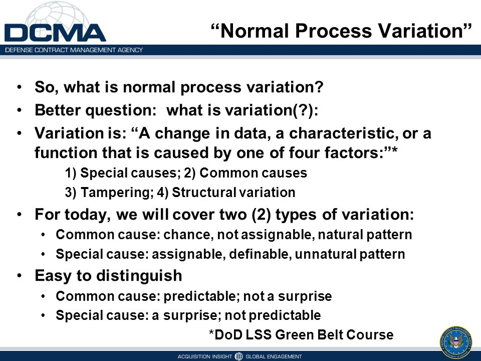 Normal Process Variation