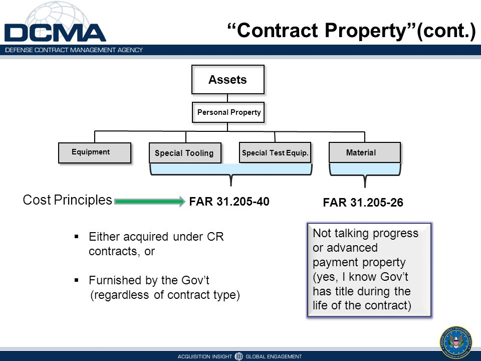Contract Property (cont.)