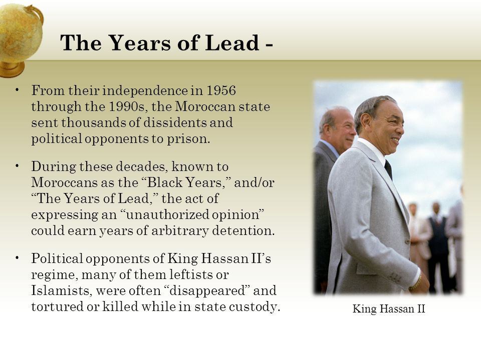 The Years of Lead -