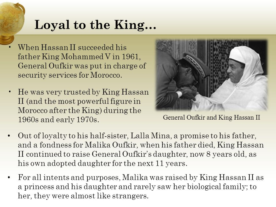 General Oufkir and King Hassan II