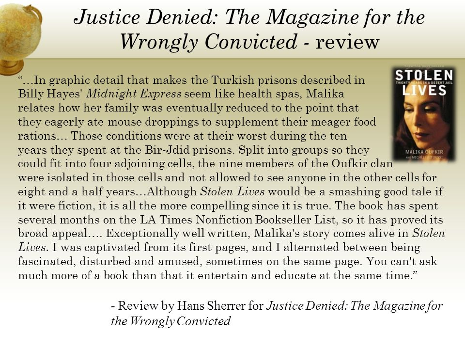 Justice Denied: The Magazine for the Wrongly Convicted - review