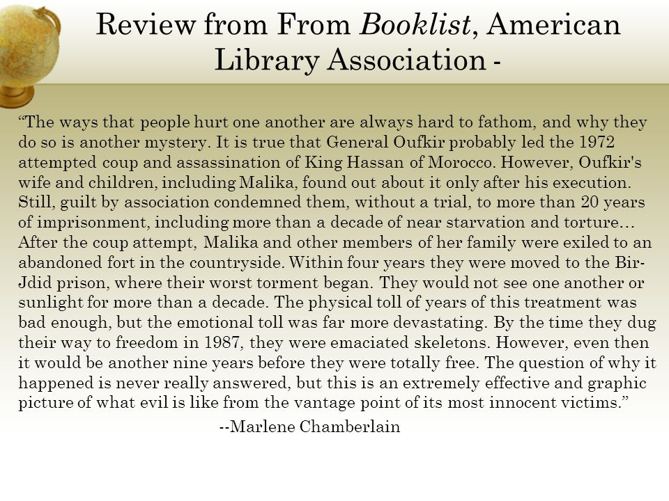 Review from From Booklist, American Library Association -