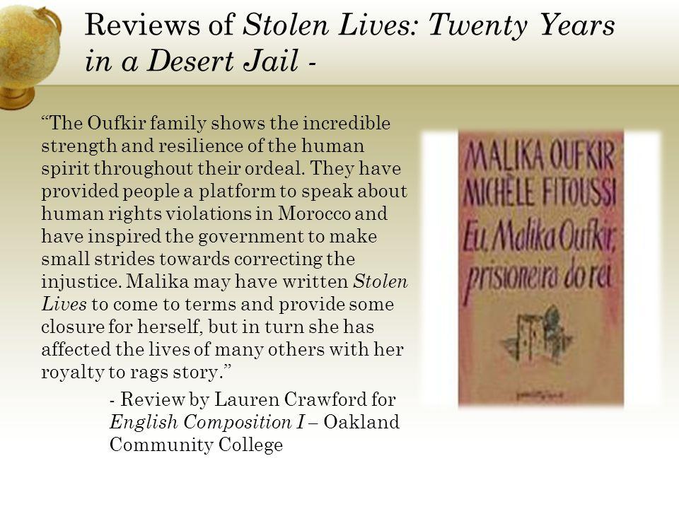 Reviews of Stolen Lives: Twenty Years in a Desert Jail -