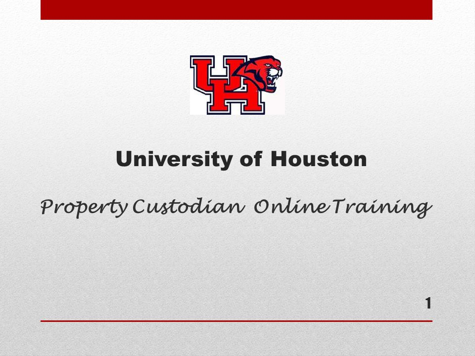 Property Custodian Online Training