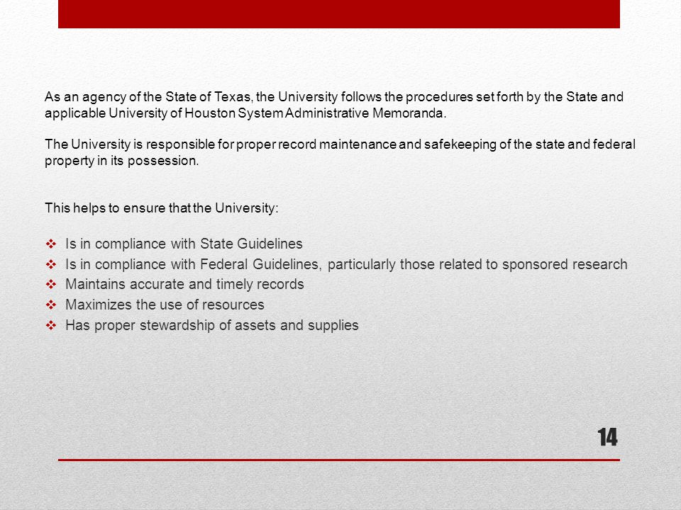 Is in compliance with State Guidelines