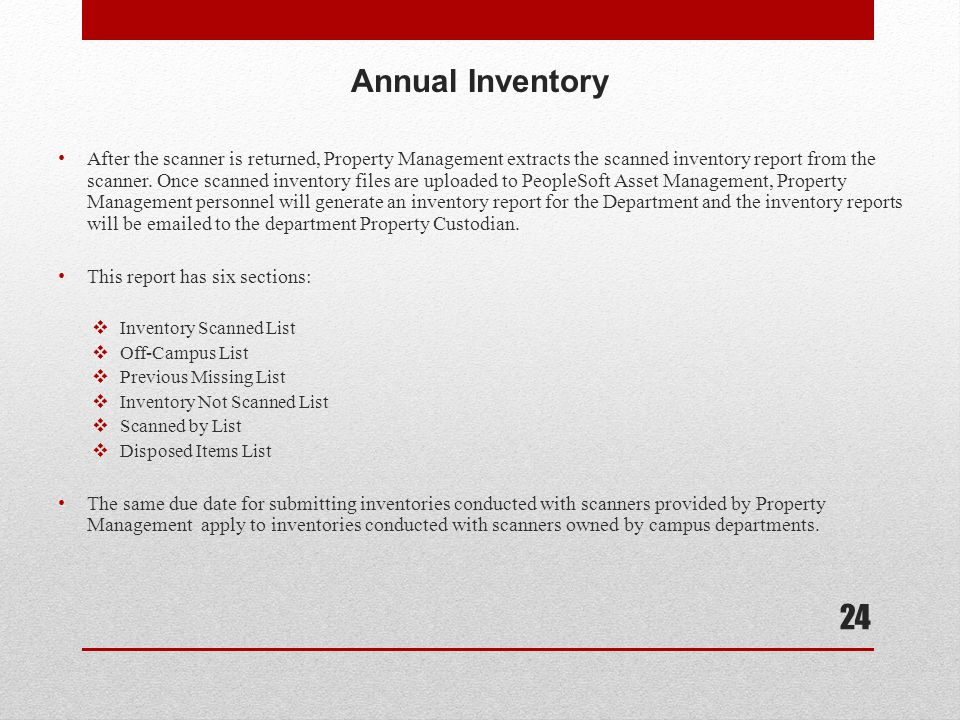 Annual Inventory