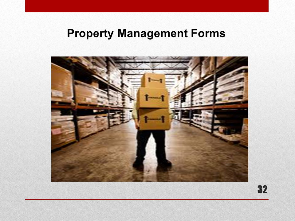 Property Management Forms