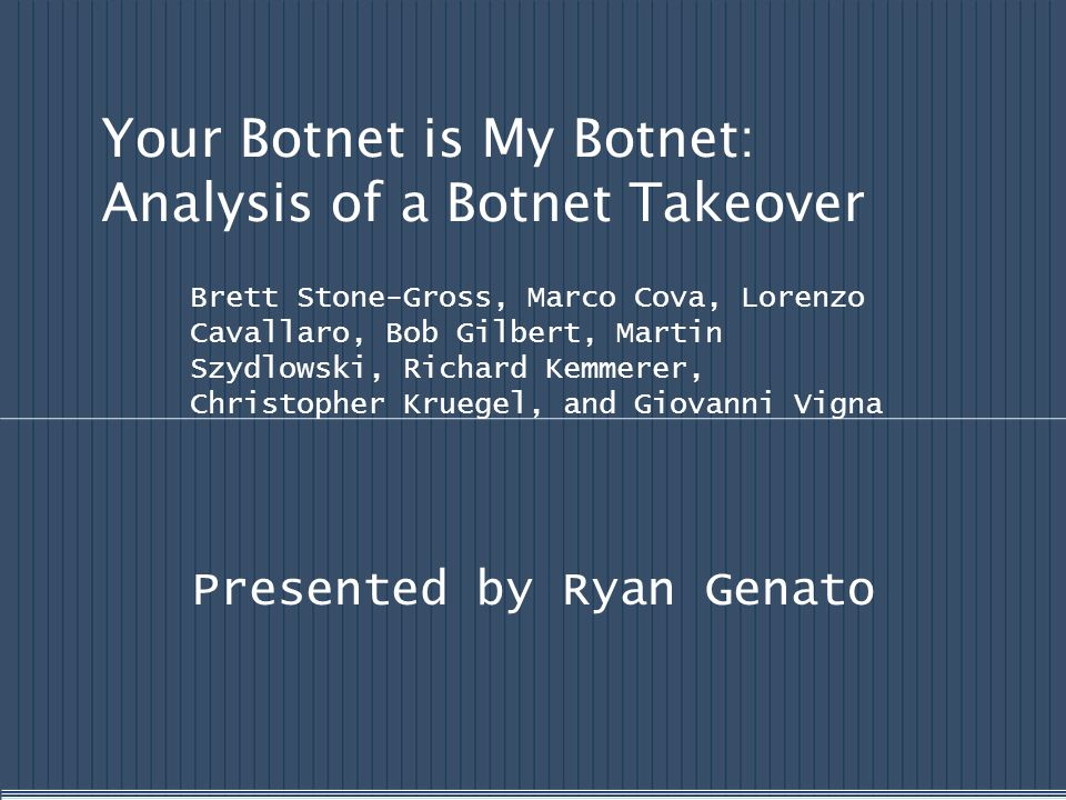 Your Botnet is My Botnet: Analysis of a Botnet Takeover
