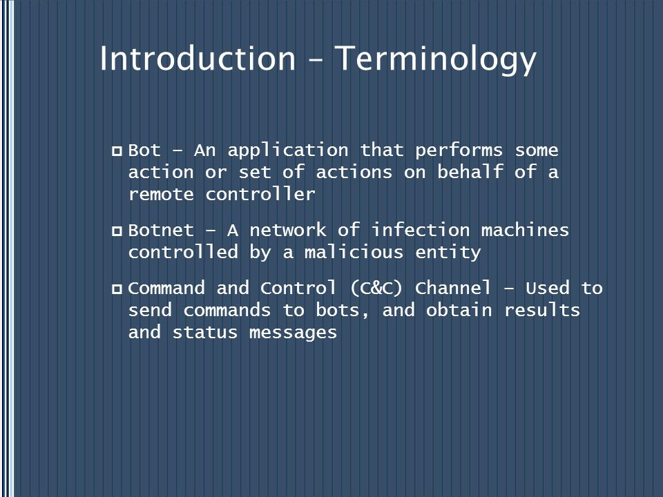Introduction – Terminology