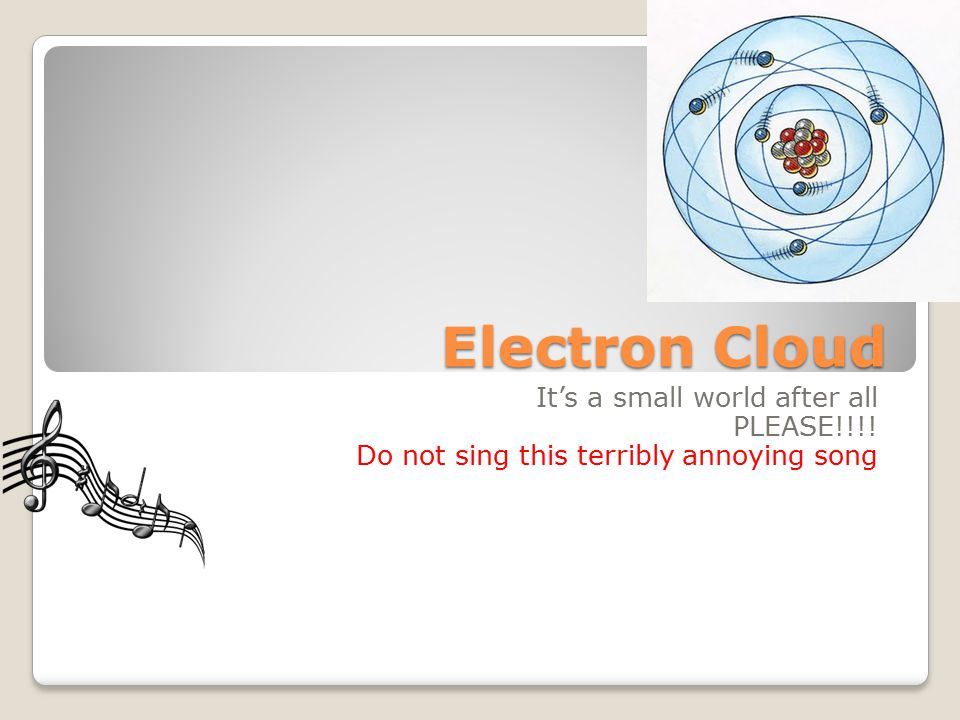 Electron Cloud It's a small world after all PLEASE!!!!