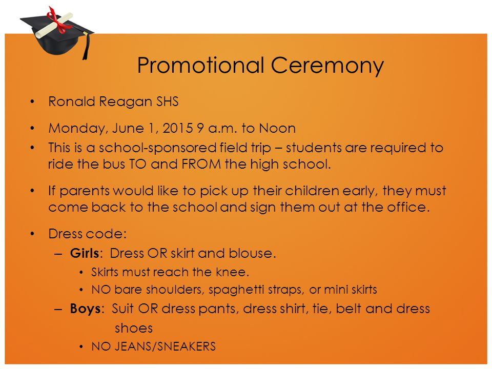 Promotional Ceremony Ronald Reagan SHS