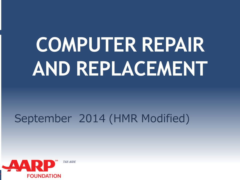 COMPUTER REPAIR AND REPLACEMENT