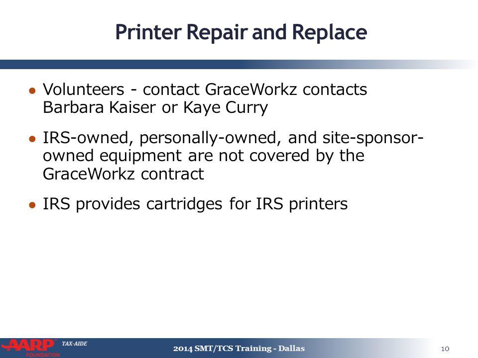 Printer Repair and Replace