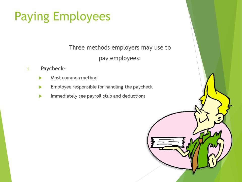 Three methods employers may use to