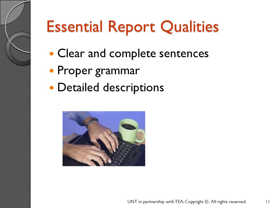 Essential Report Qualities