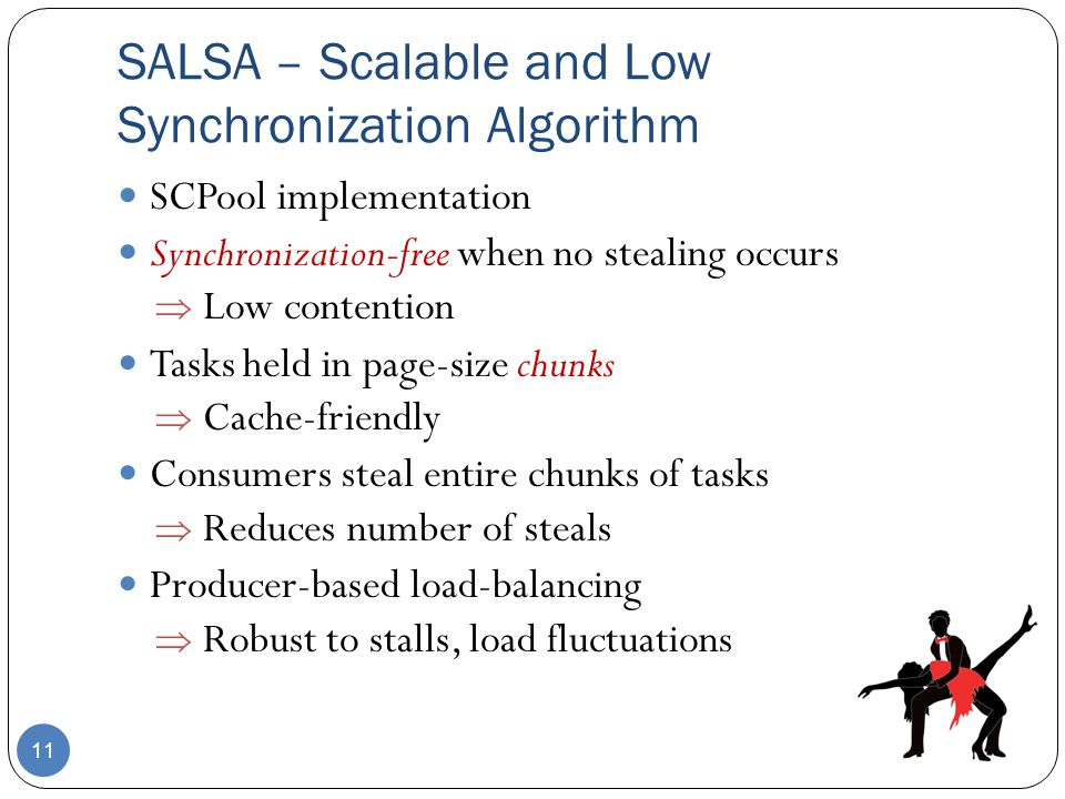 SALSA – Scalable and Low Synchronization Algorithm