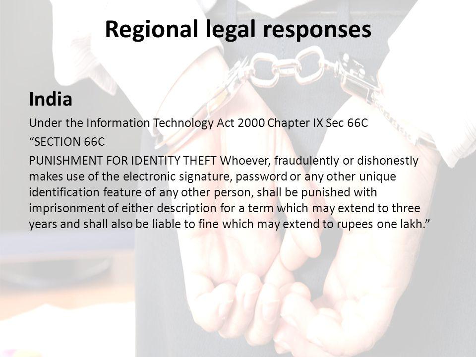 Regional legal responses