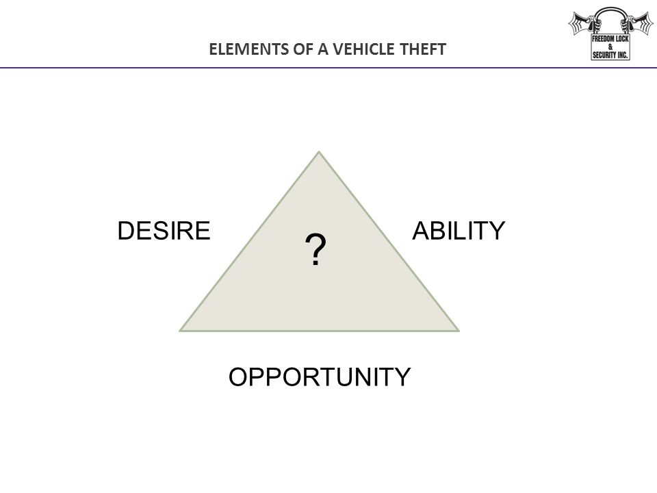 ELEMENTS OF A VEHICLE THEFT