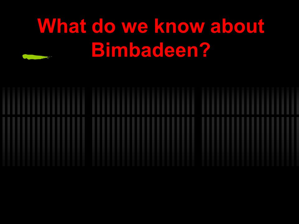 What do we know about Bimbadeen
