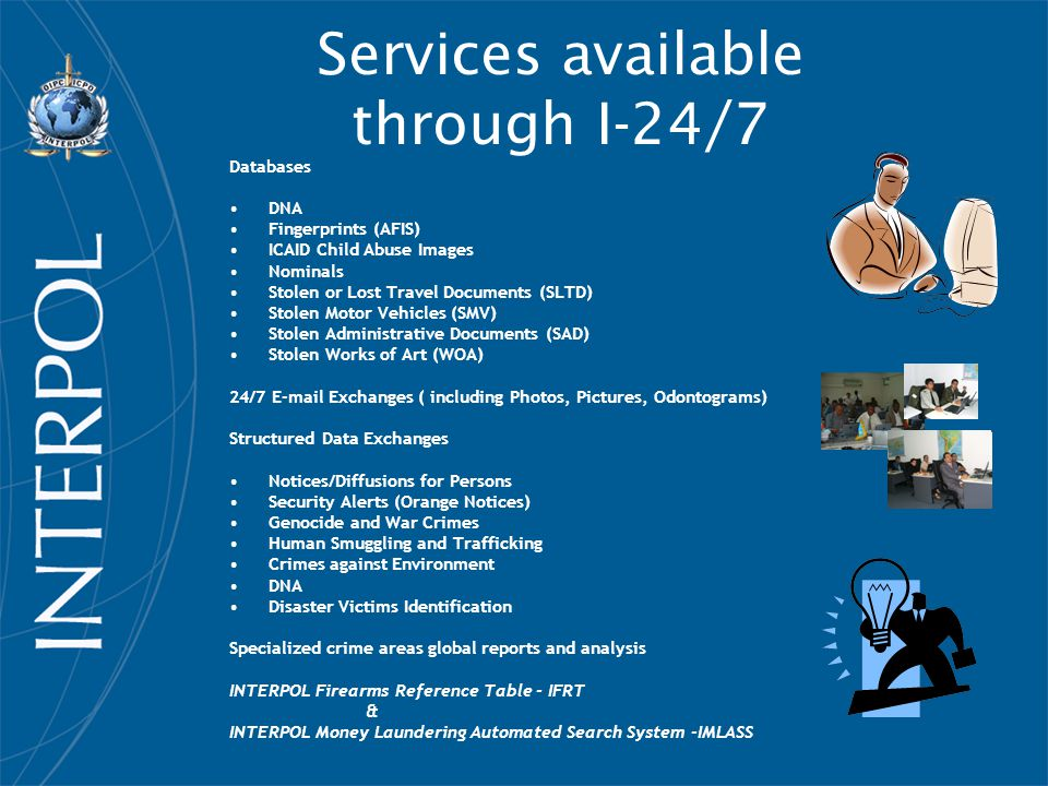 Services available through I-24/7